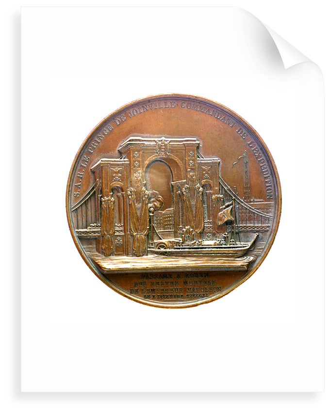 Medal commemorating the translation of the body of Napoleon to Rouen; reverse by Alexis Joseph Depaulis