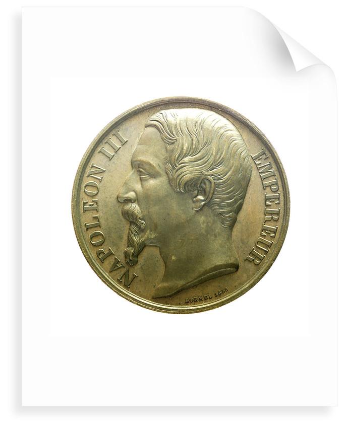 Medal commemorating the capture of Kinburn, 1855; obverse by Valentin Maurice Borrel