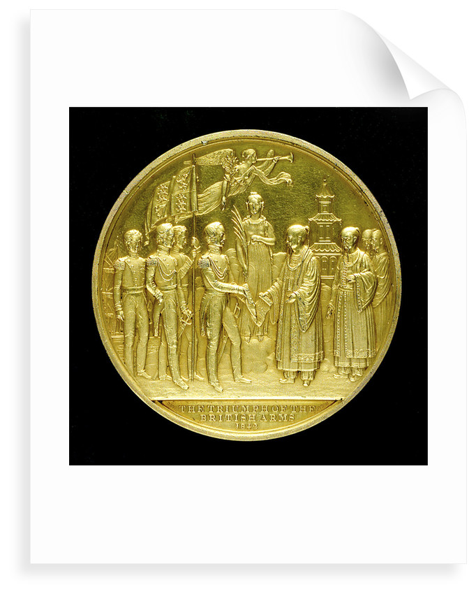 Commemorative medal depicting the end of the war with China, 1842; reverse by Davis