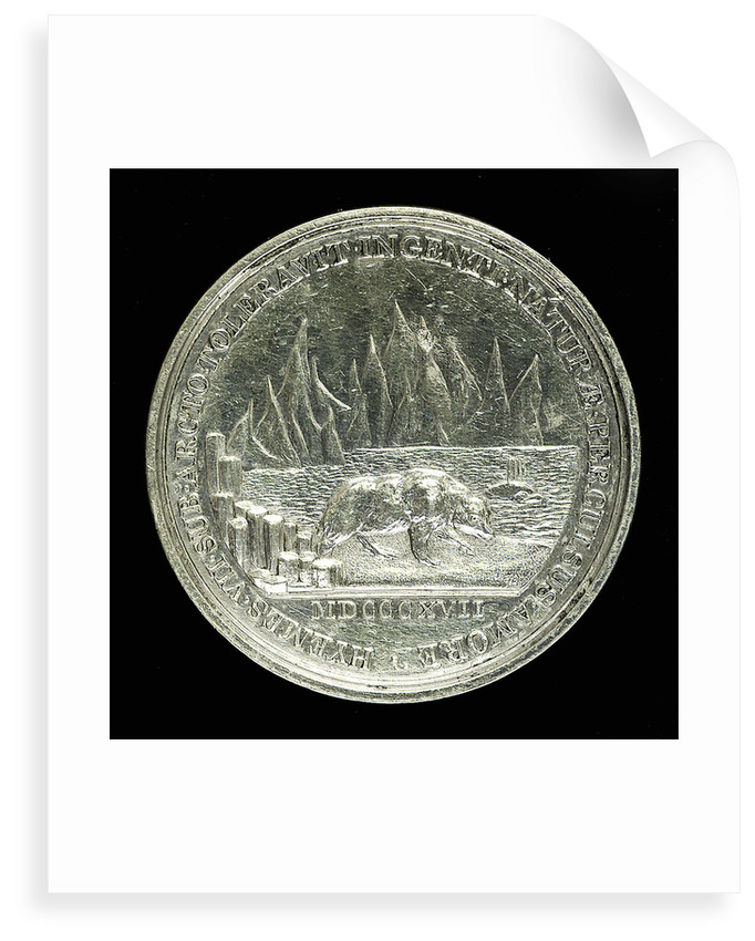 Medal commemorating Sir Charles Lewis Giesecke (1761-1833); reverse by W.S. Mossop