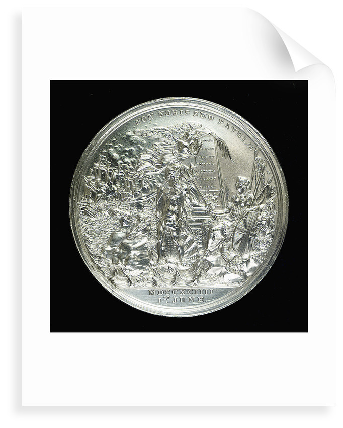 Medal commemorating the Battle of the Glorious First of June, 1794; reverse by W. Barnett