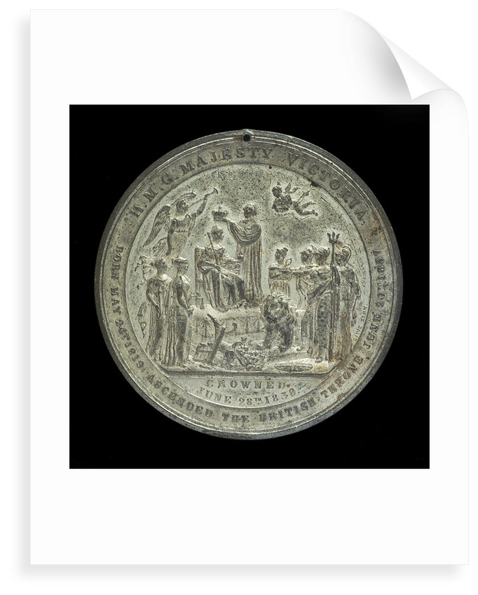 Medal commemorating Queen Victoria's coronation, 1837; reverse by Davis