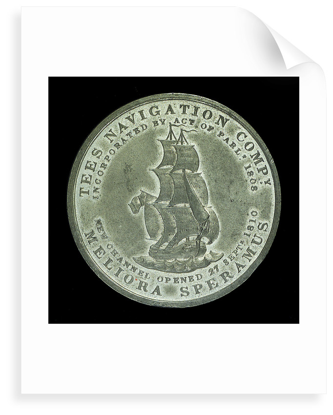 Medal commemorating The Tees Navigation Company; obverse by unknown