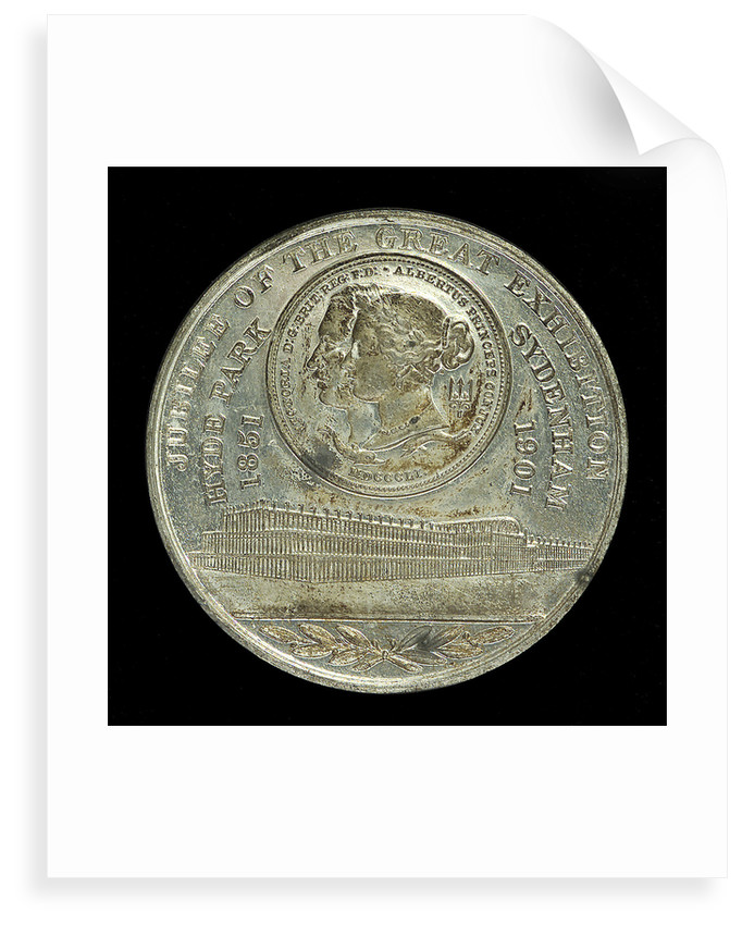 Medal commemorating the Naval and Military Exhibition and Jubilee of the Great Exhibition 1901; reverse by unknown