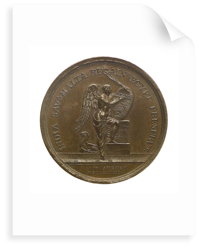 Medal commemorating the Battle of the Nile, 1798; reverse by Ponthon