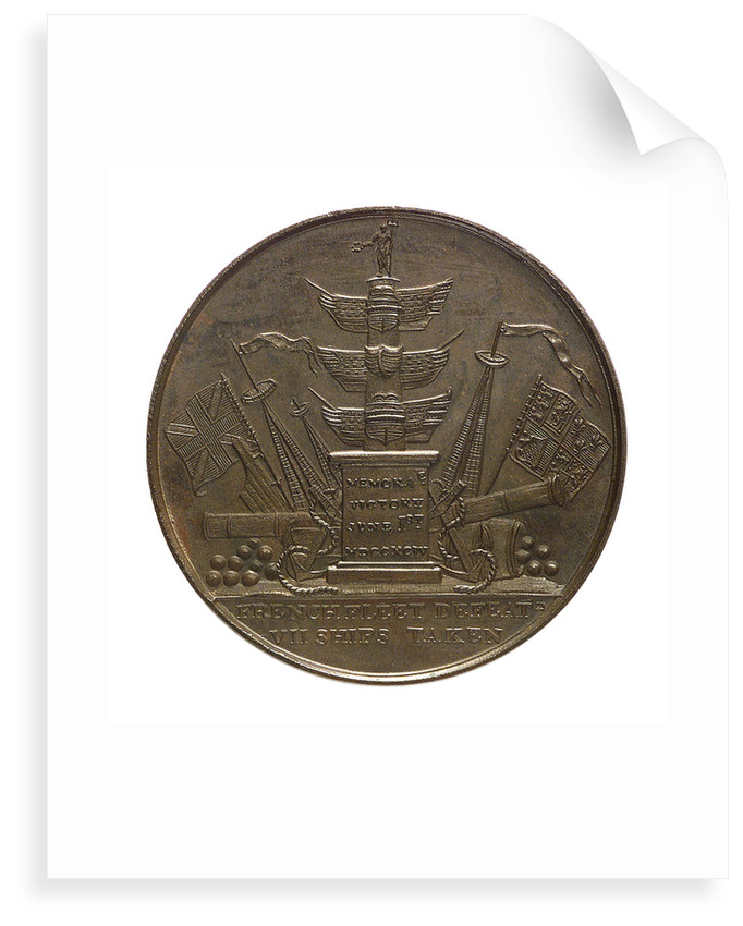 Medal commemorating Admiral of the Fleet Richard Howe (1726-1799) and the Battle of the Glorious First of June, 1794; reverse by T. Wyon