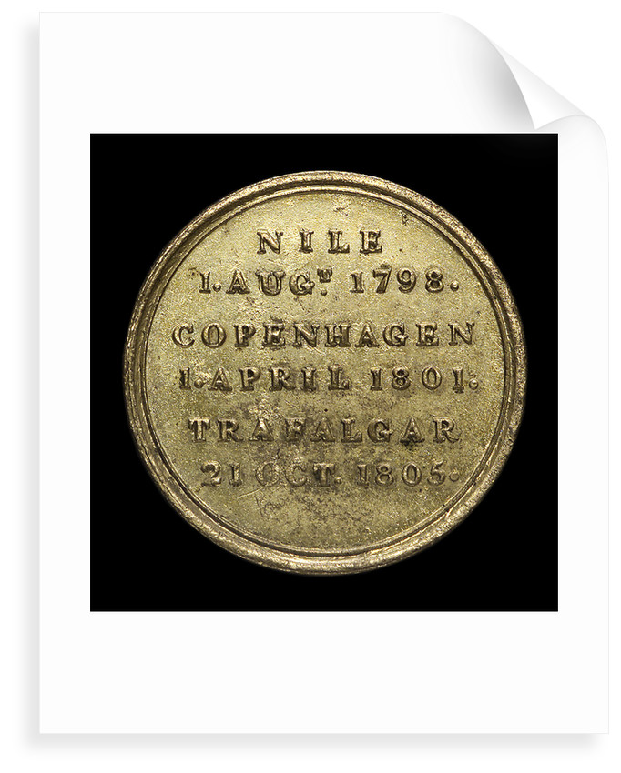 Counter commemorating Nelson's victories; reverse by unknown