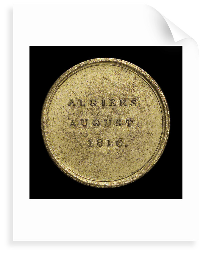 Counter commemorating Admiral Edward Pellew, Lord Exmouth (1757-1833) and the bombardment of Algiers, 1816; reverse by unknown