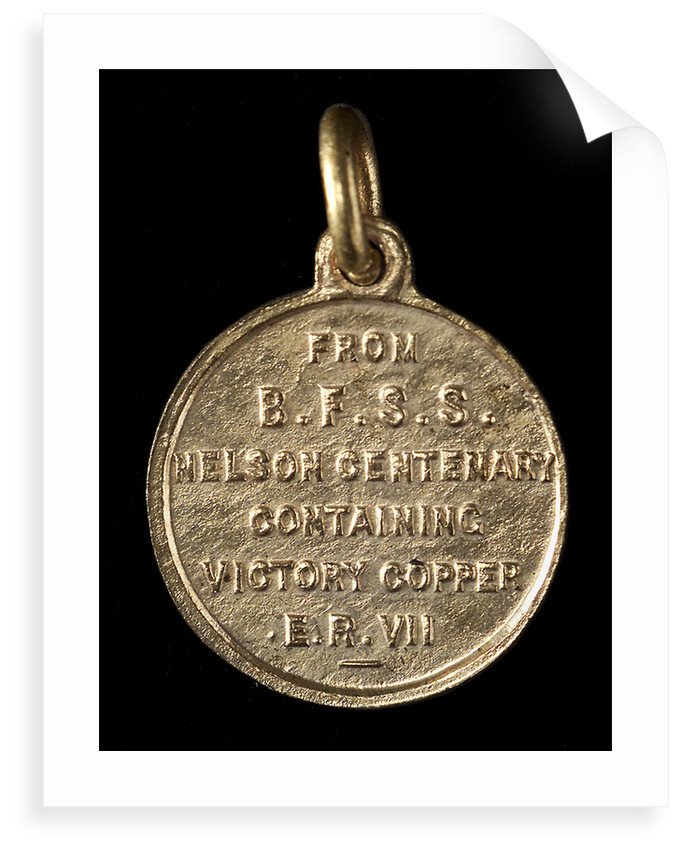 Badge commemorating the Trafalgar centenary, 1905; reverse by unknown