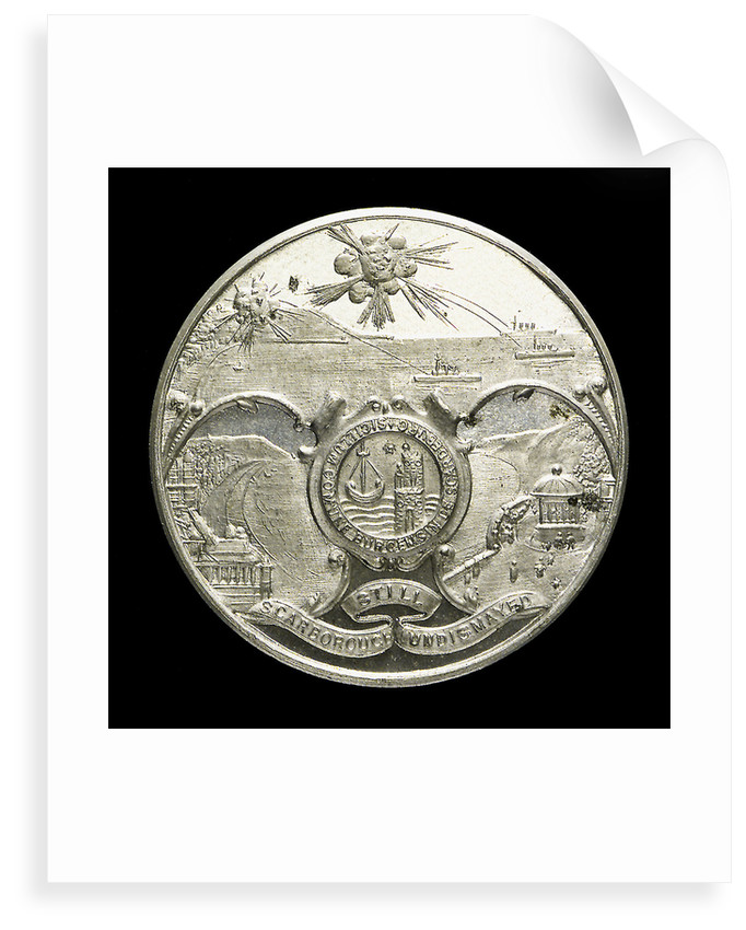 Medalet commemorating the bombardment of Scarborough, 1914; obverse by unknown