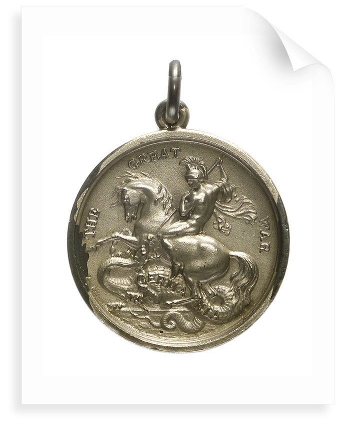 Medalet commemorating the raid on Zeebrugge and Ostend, 1918; obverse by unknown