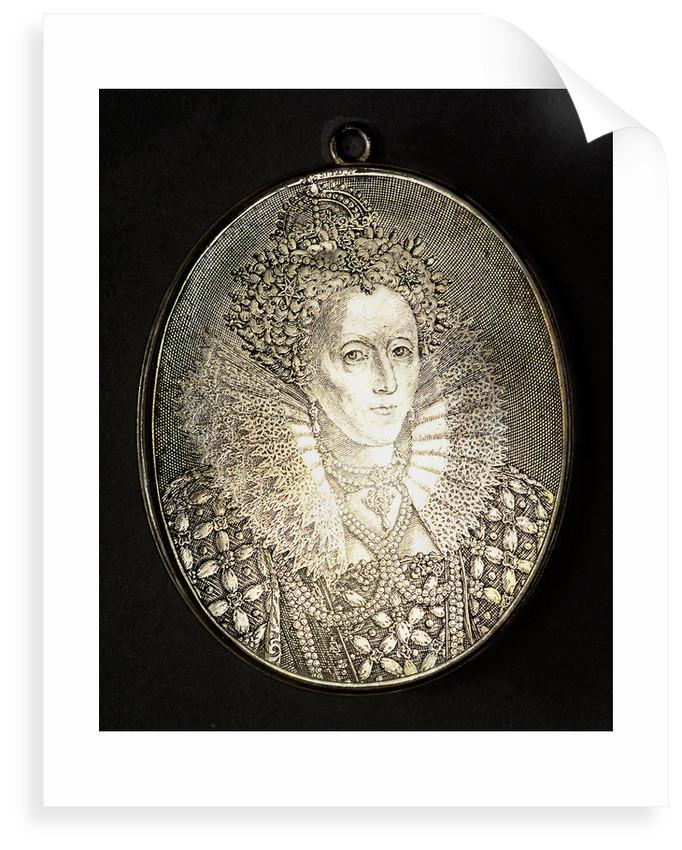 Counter commemorating Queen Elizabeth I; obverse by Simon van de Passe