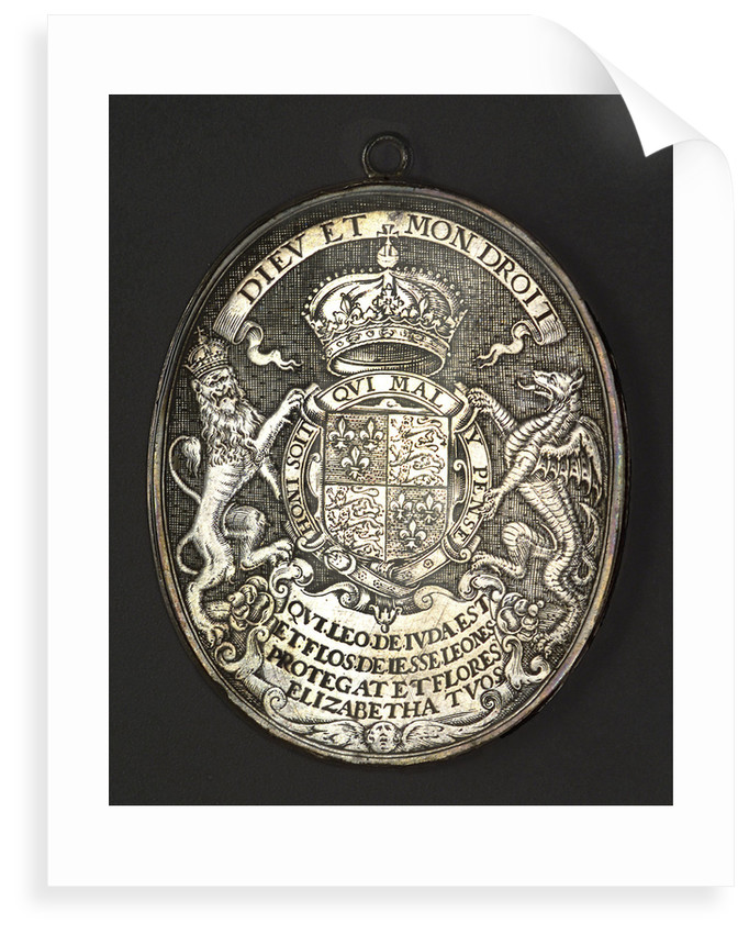 Counter commemorating Queen Elizabeth I; reverse by Simon van de Passe