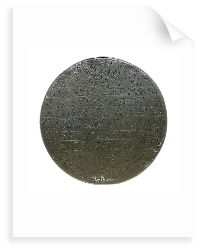 Prisoner's love token; reverse by unknown