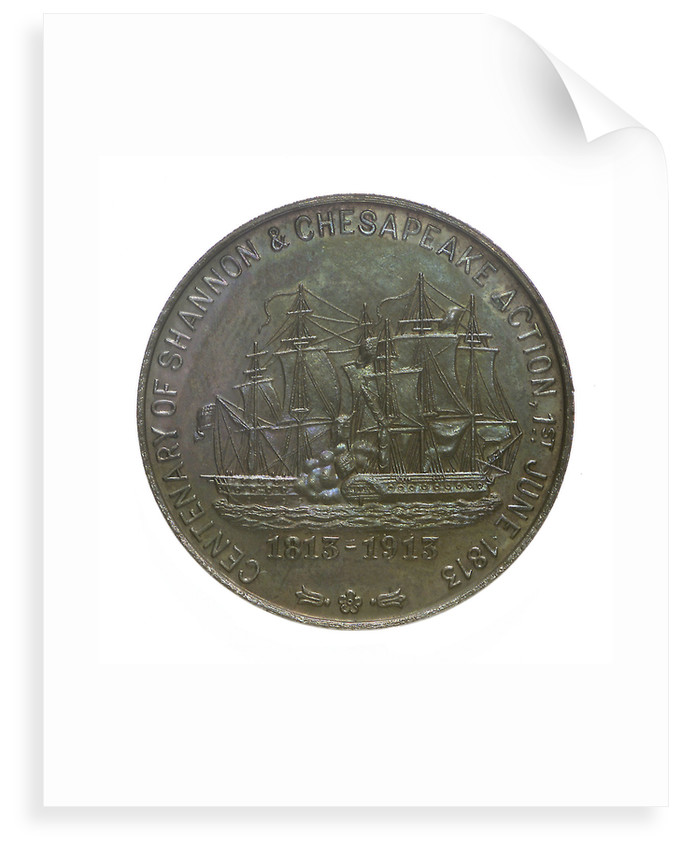 Medal commemorating the centenary of the 'Shannon' and 'Chesapeake' action, 1913; reverse by C & S Co.