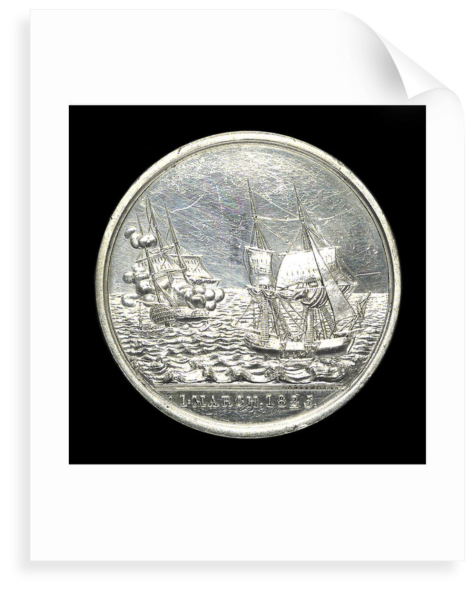 Medal commemorating the loss of the East Indiaman 'Kent', 1825; obverse by Thomas Halliday