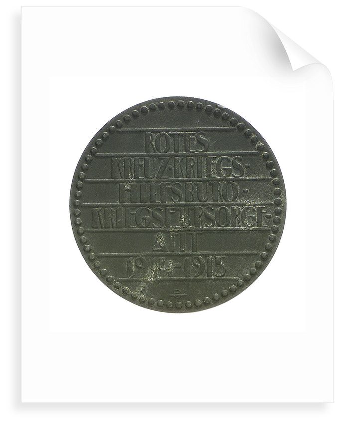 Medal commemorating the sinking of 'Leon Gambetta' by U5, 1915; reverse by Hans Schwathe