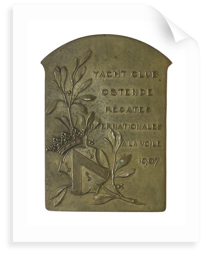Medal commemorating The International Regatta, Ostend, 1907; reverse by P. Fisch