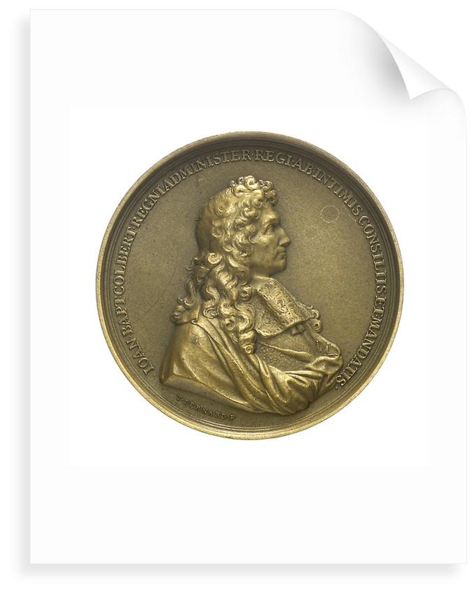 Medal commemorating the minister Jeane Baptiste Colbert (1619-1683) and the cruiser 'Colbert'; obverse by T. Bernard