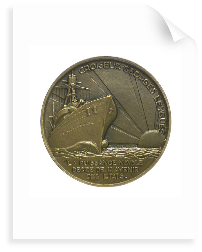 Medal commemorating Georges Leygues (1856-1933) and the cruiser 'Georges Leygues'; reverse by Georges Guiraud