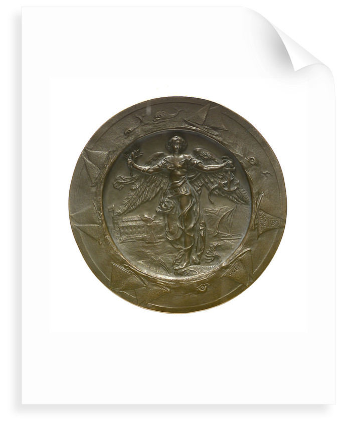 Medal commemorating Kaiser Wilhelm II, Commodore of the Kiel Yacht Club; reverse by P. Sturm