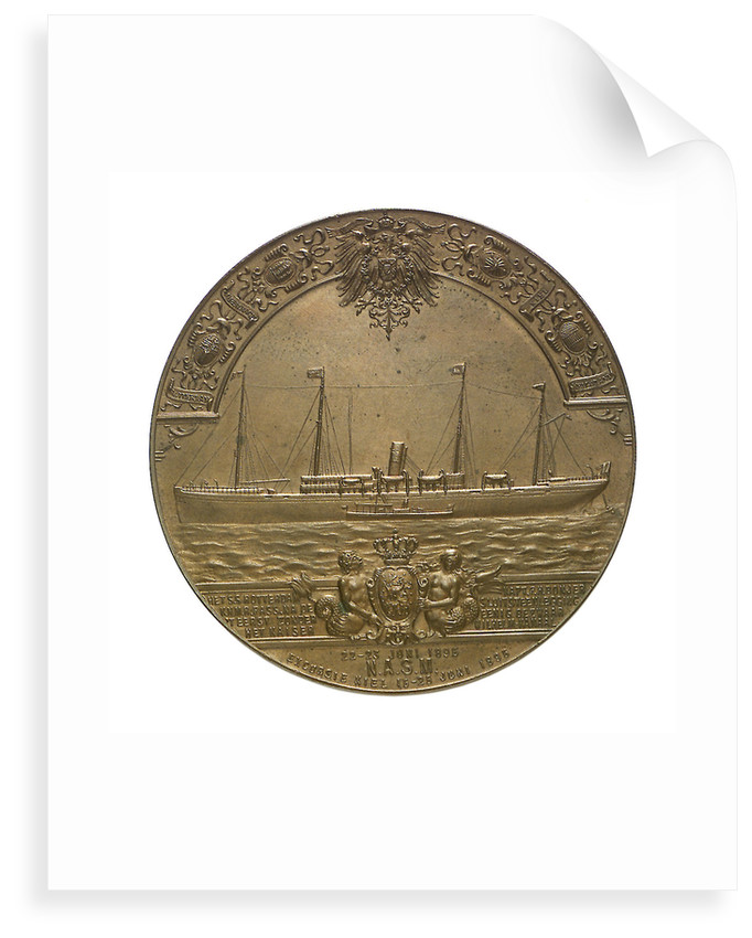 Medal commemorating the SS 'Rotterdam' and the Kiel Canal; obverse by B. Veth