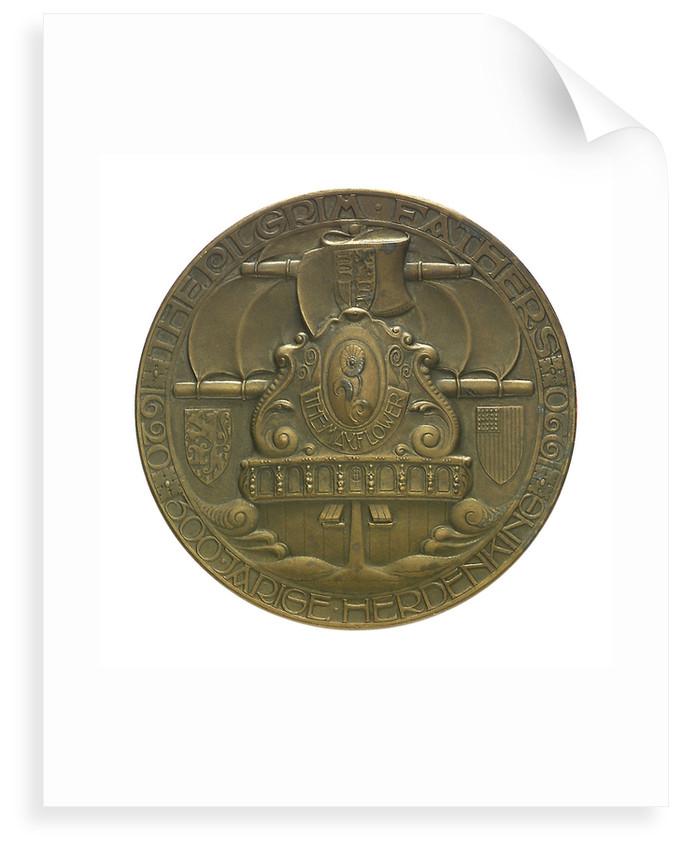 Medal commemorating the Pilgrim Fathers tercentenary, 1920; obverse by C.J. van der Hoef
