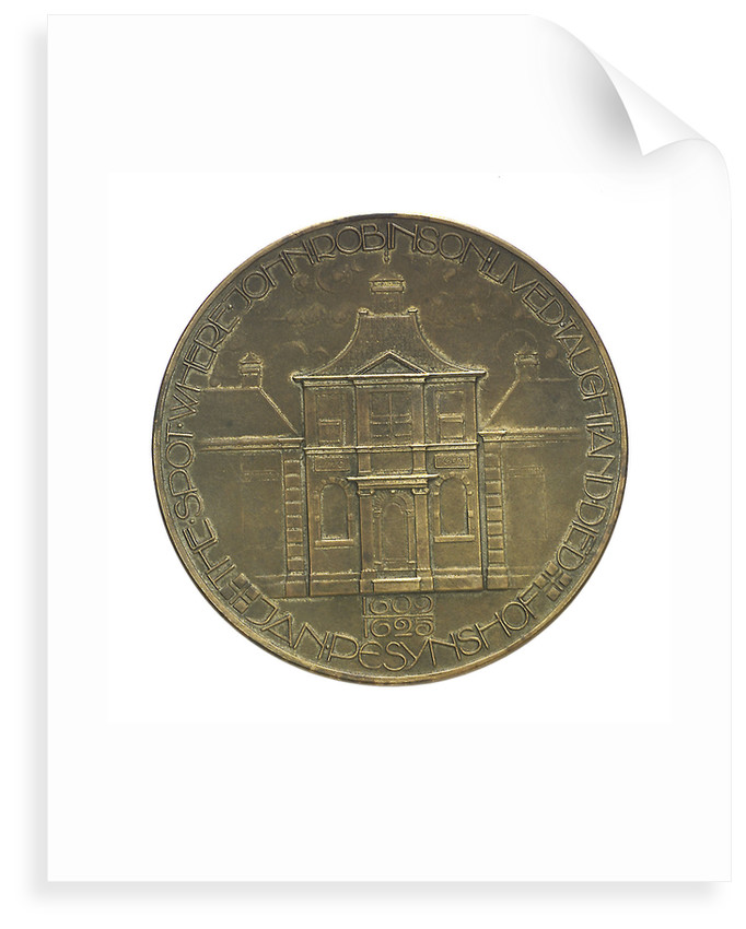 Medal commemorating the Pilgrim Fathers tercentenary, 1920; reverse by C.J. van der Hoef