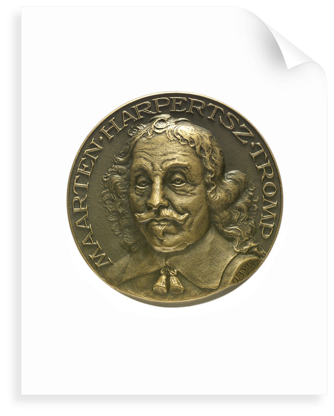 Medal commemorating Admiral Maarten Harpertsz Tromp  (1597-1653); obverse by J.J. van der Goor