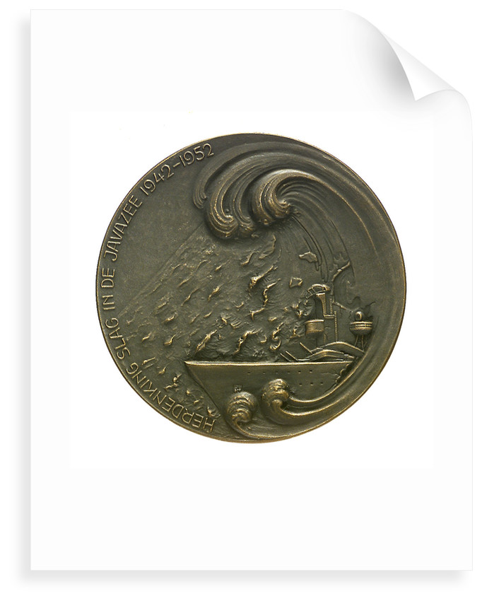 Medal commemorating the combined action in the Java Sea 1942-1952; obverse by B. Liefting