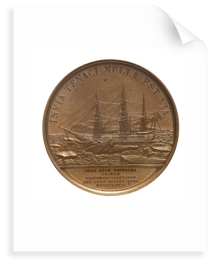 Medal commemorating the first navigation of the North East Passage, 1879; reverse by Lea Ahlborn