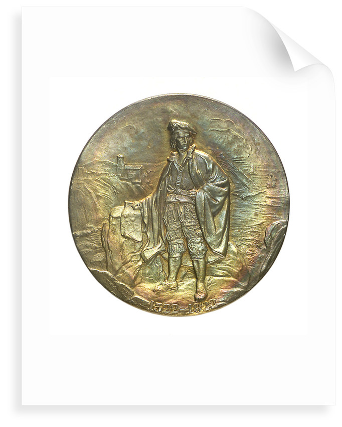Medal commemorating the 400th anniversary of the discoverer Juan Sebastian del Cano, 1922; obverse by unknown