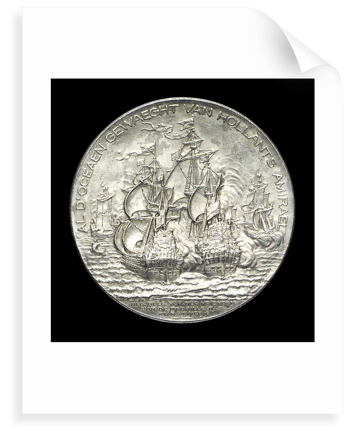 Medal commemorating the tercentenary of the birth of Admiral de Ruyter, 1997; reverse by J.J. van der Goor