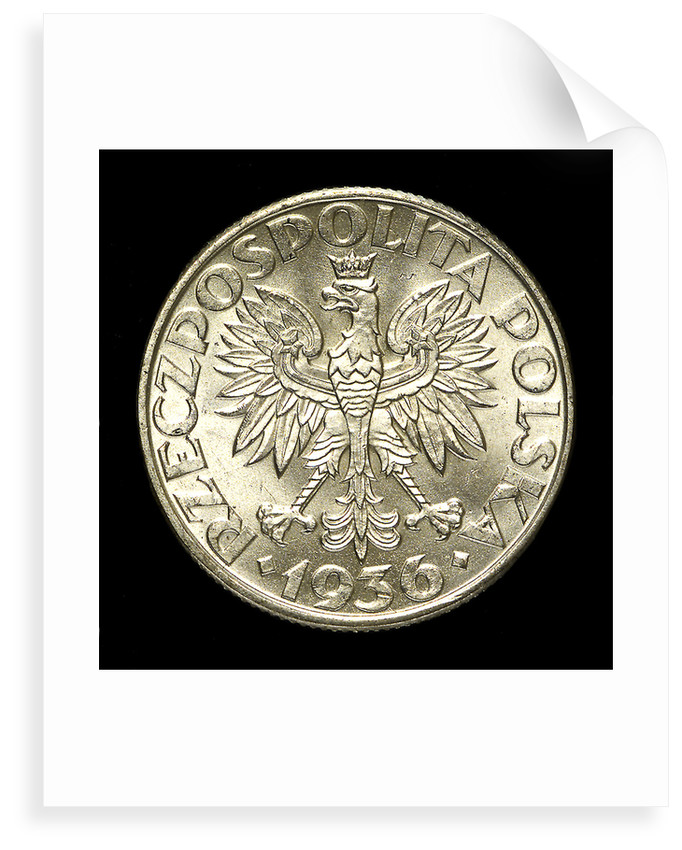 2 zlote coin; obverse by unknown