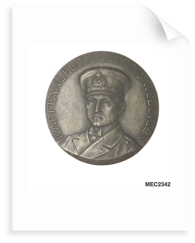 Medal commemorating the sinking of the cruisers 'Aboukir', 'Hogue' and 'Cressy' by 'U9.', 1914; obverse by H. Ziegler