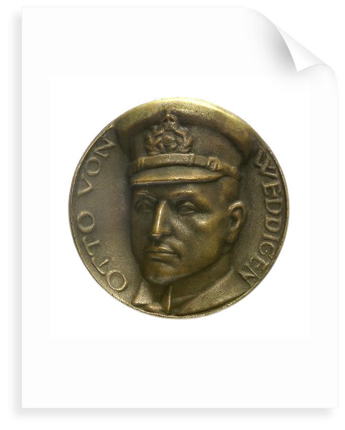 Medal commemorating Captain-Lieutenant Otto von Weddigen (1882-1915), submarine commander; obverse by unknown