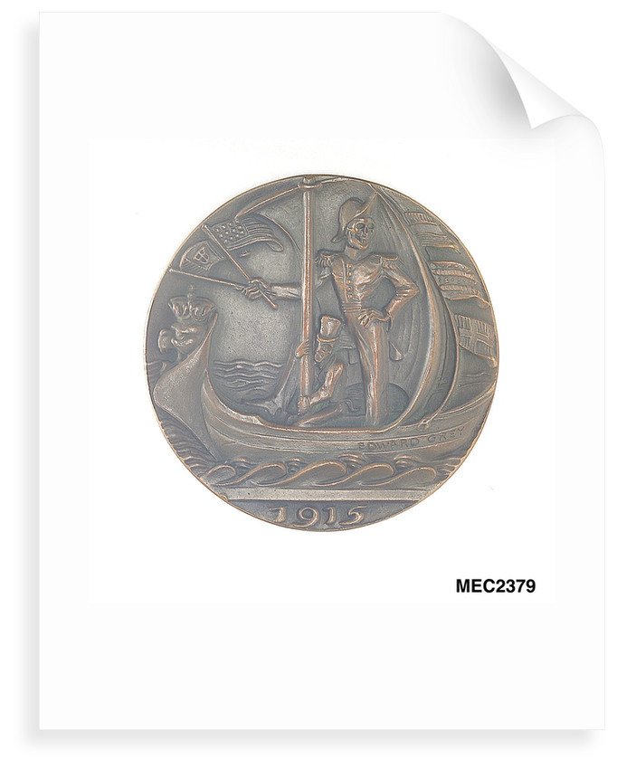 Medal commemorating Sir Edward Grey (1862-1933) and neutral shipping by Karl Goetz