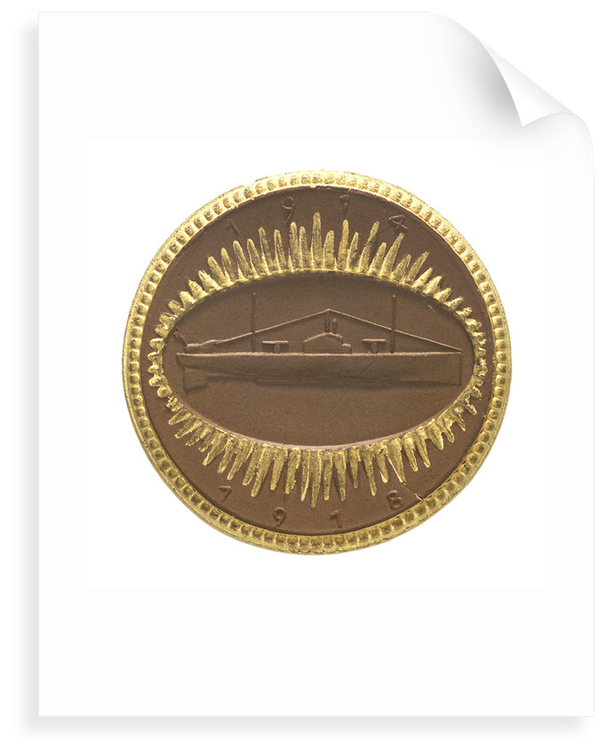 Medal commemorating a submarine officer's memorial; reverse by unknown