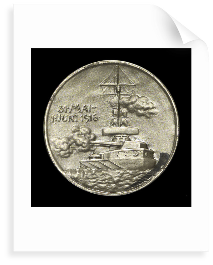 Medal commemorating Admiral Franz von Hipper (1863-1932) and the Battle of Jutland, 1916; reverse by F. Eue