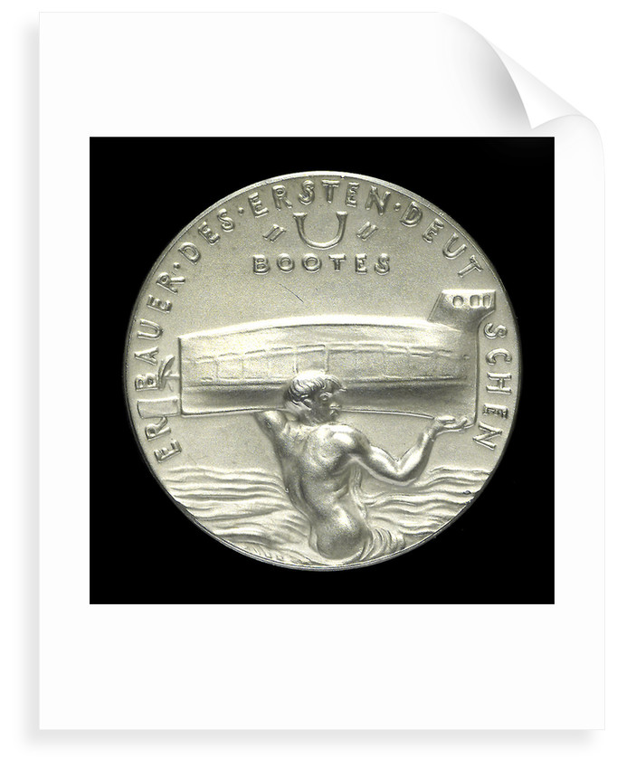 Medal commemorating W. Bauer, Engineer (1822-1875), 60th anniversary of his death; reverse by Karl Goetz