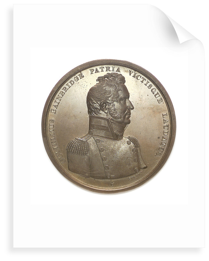 Medal commemorating Commodore William Bainbridge (1774-1833) and the action between USS 'Constitution' and HMS 'Java', 1812; obverse by Moritz Furst