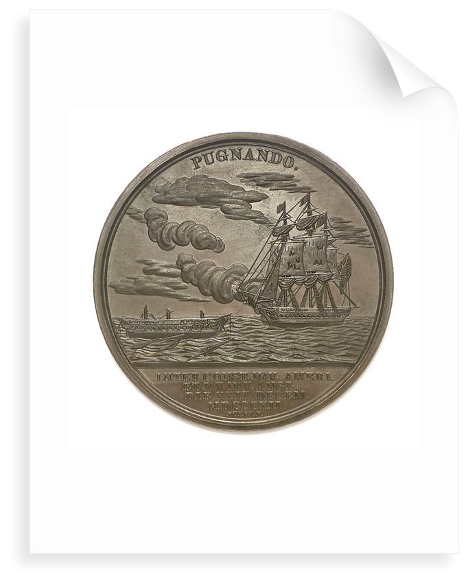 Medal commemorating Commodore William Bainbridge (1774-1833) and the action between USS 'Constitution' and HMS 'Java', 1812; reverse by Moritz Furst