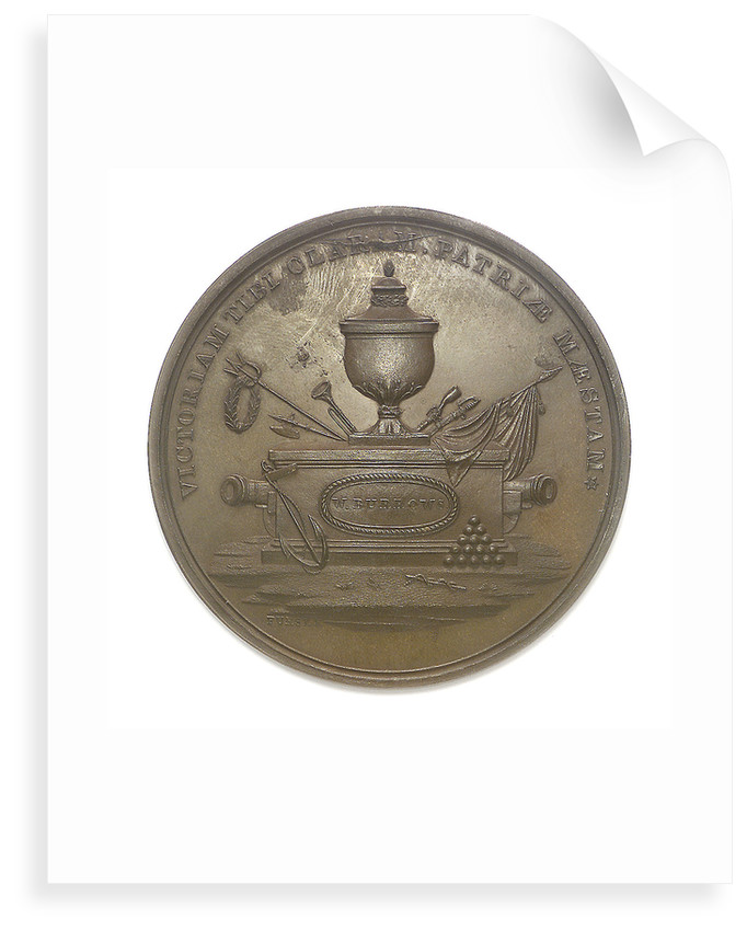 Medal commemorating the action between USS 'Enterprise' and HMS 'Boxer', 1813; obverse by Moritz Furst