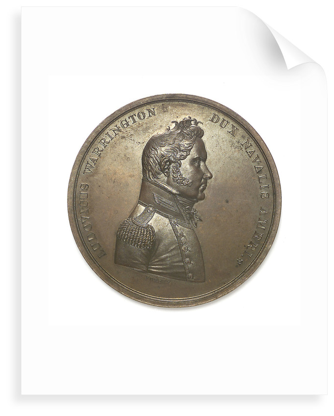 Medal commemorating Captain Lewis Warrington (1782-1851) and the action between USS 'Peacock' and HMS 'Epervier', 1814; obverse by Moritz Furst