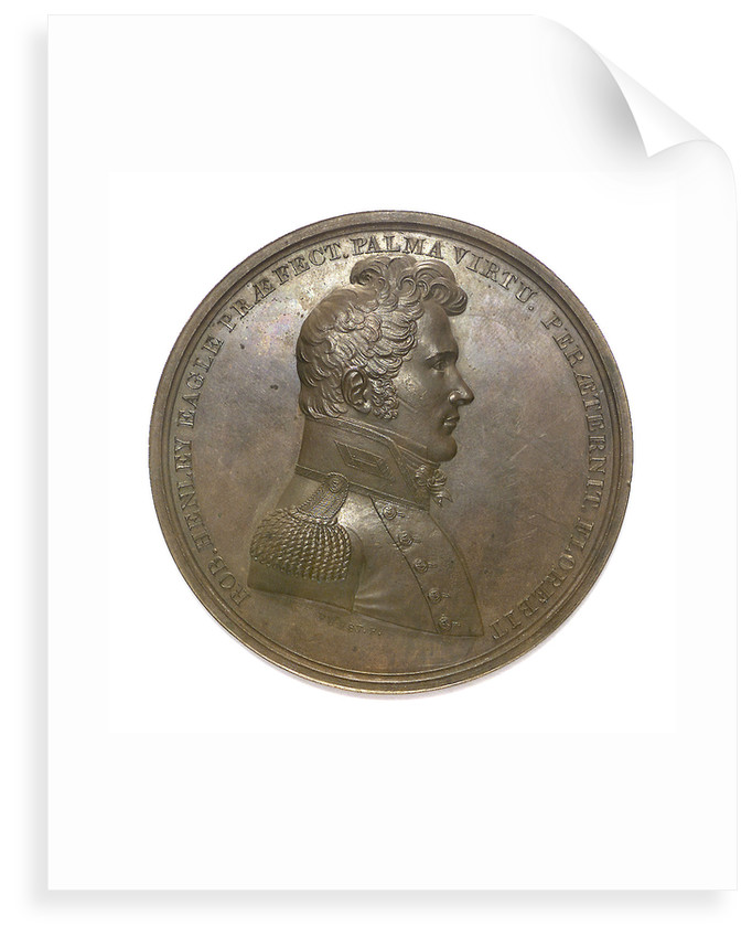 Medal commemorating Captain Robert Henley (1783-1828) and the Battle of Lake Champlain, 1814; obverse by Moritz Furst