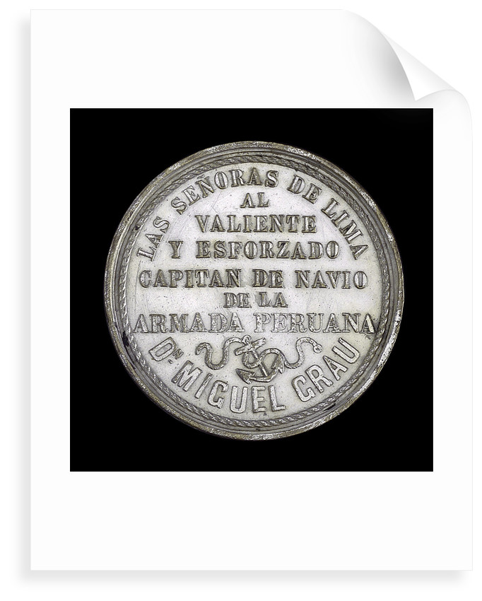 Medal commemorating the action off Iquique, 1879; reverse by R. Britten