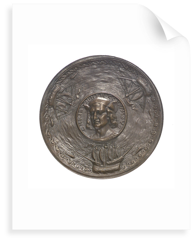 Medal commemorating Christopher Columbus (1451-1506) and the discovery of America, 1492; obverse by G.F. Naegele