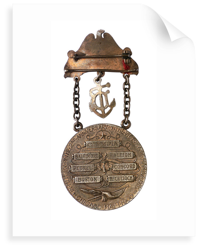 Medal commemorating the Battle of Manila Bay - 2nd anniversary; reverse by unknown