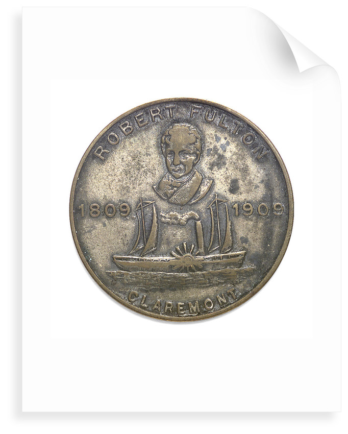 Medal commemorating the Hudson-Fulton celebration, 1909; obverse by Whitehead & Hoag