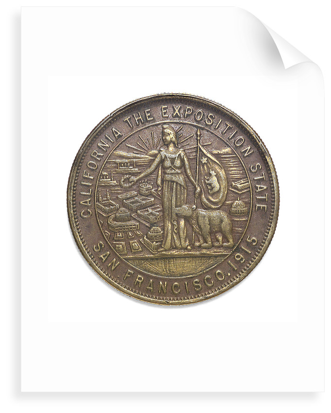 Medal commemorating the Panama Canal completion exposition San Francisco, 1915; obverse by unknown